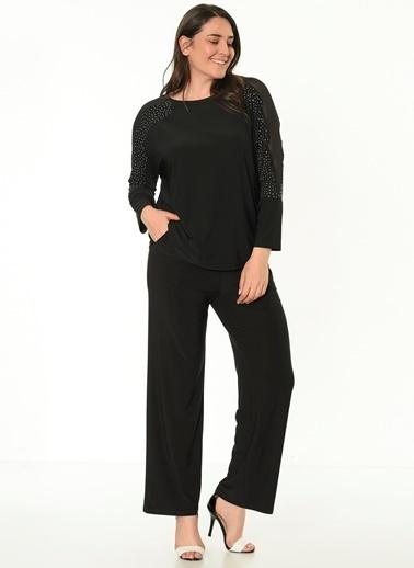 Selen Uzun Kollu Bluz Siyah